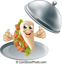 Kebab Character on Serving Dish