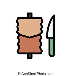 kebab  flat color icon