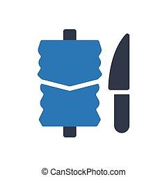 kebab glyph color icon
