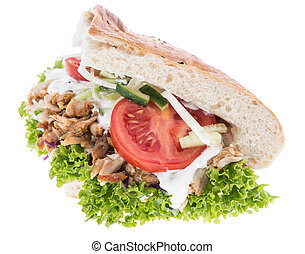 Kebab isolated on white background