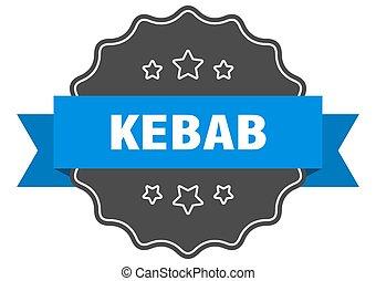 kebab label. kebab isolated seal. sticker. sign