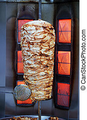 kebab preparation in an oven, a Turkish cuisine