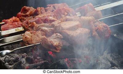 Kebab Prepared on the Grill