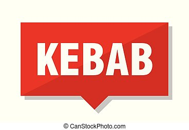 kebab red tag - kebab red square price tag