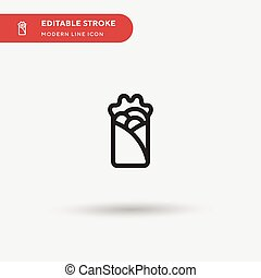 Kebab Simple vector icon. Illustration symbol design template for web mobile UI element. Perfect color modern pictogram on editable stroke. Kebab icons for your business project