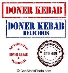 kebab-stamps, doner