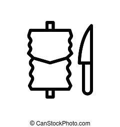 kebab  thin line icon