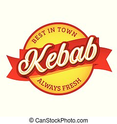 Kebab vintage sign label lettering