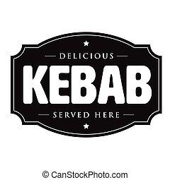Kebab vintage sign stamp