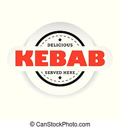 Kebab vintage stamp sign vector