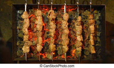 kebabs, shish, grill., torréfaction