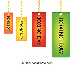 kedja, boxning, etikett, rektangel, holdingen, dag, goldenl