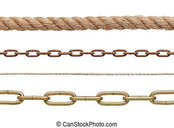 kedja, rep, anslutning, slaveri, strenght, länk