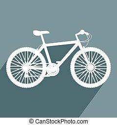 kedves, bicikli, ikon
