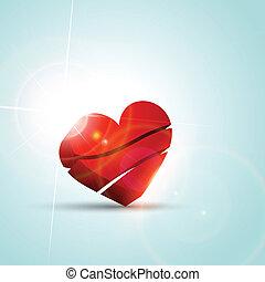 kedves, nap, szív, háttér