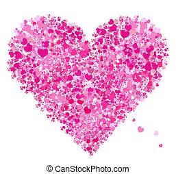 kedves, szív alakzat, szeret