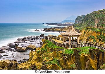 Keelung, Taiwan at Heping Island coast.