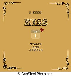 Keen kiss today - A keen kiss today and always - old post...