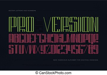 keen pro - high style alphabet letters and numbers isolated...