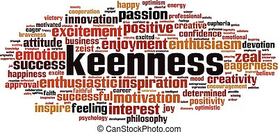 keenness, palabra, nube