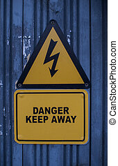 keep away high voltage sign