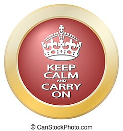 Keep Calm And Carry On Icon - A keep calm and carry on icon...