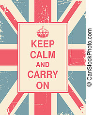 Keep Calm and Carry On Union Jack - Keep Calm and Carry On...