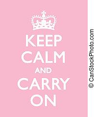 Vintage motivational poster, Pink