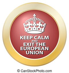 Keep Calm And Exit The European Union Icon