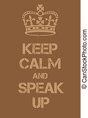 Keep Calm and Speal Up poster. Adaptation of the famous...