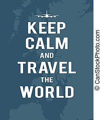 Keep calm and travel the world, map of United Kingdom, plane