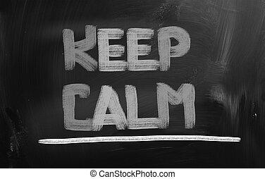 Keep Calm Concept