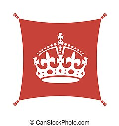 Keep Calm Crown  Symbol on Cushion
