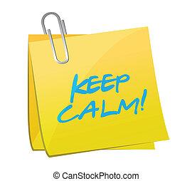 keep calm post it illustration design