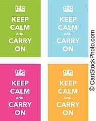 keep calm poster set