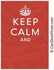 Keep Calm Poster with Crown