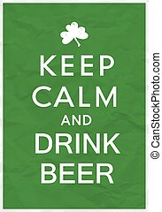 Keep Calm Poster with St. Patricks Day Greetings