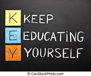 Keep-educating-yourself-acronym - KEY acronym - KEEP...
