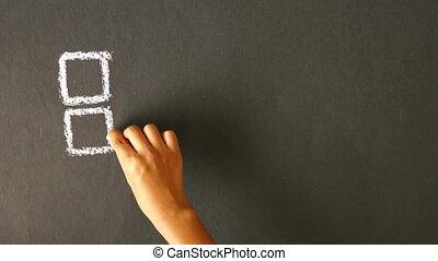 Keep educating yourself chalk drawi