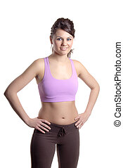 Keep Fit Girl - Beautiful Young Woman Dressed For A Workout