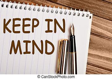 Keep in mind words
