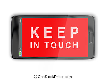 KEEP IN TOUCH concept