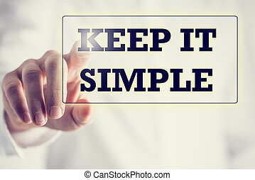 Keep It Simple on a virtual screen