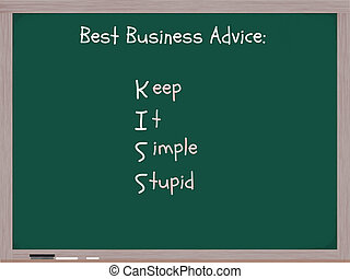 Keep It Simple Stupid - A chalkboard with the words Best...