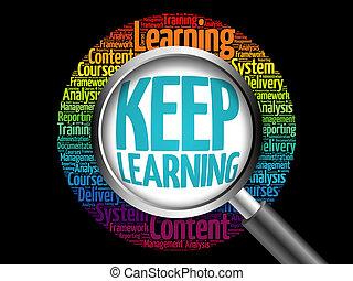 Keep Learning word cloud