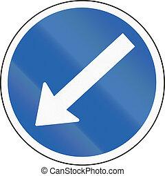 Icelandic traffic sign: Keep left