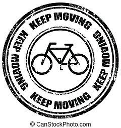 Keep moving-stamp