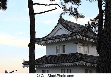 keep of Shimabara castle in Nagasaki, Japan