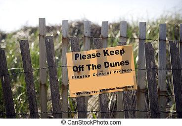 keep off dunes sign Montauk, New York