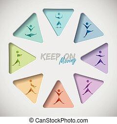 Keep on mooving fitness background